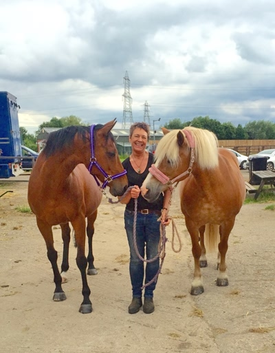 Jayne with horses